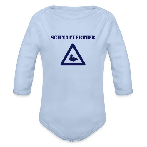 Achtung! Schnattertier - Baby Bio-Langarm-Body