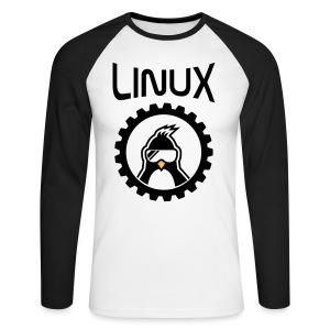 Linux - Mannen baseballshirt lange mouw