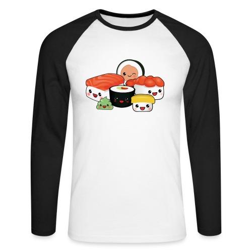 Sushi - Mannen baseballshirt lange mouw