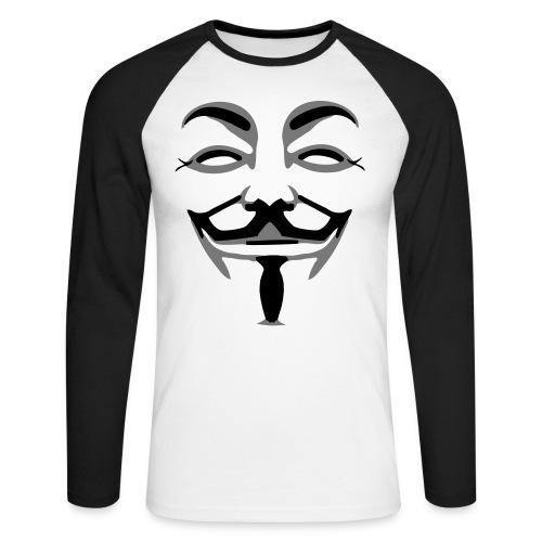 Anonymus - Mannen baseballshirt lange mouw