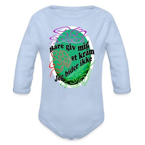 Baby langærmet body - Langærmet babybody, økologisk bomuld