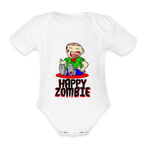 Happy Zombie - Baby Bio-Kurzarm-Body