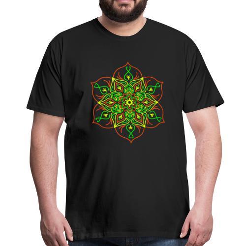 Fire Lotus Men's Premium S-5XL - Men's Premium T-Shirt
