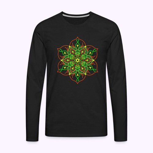 Fire Lotus Men's Longsleeve - Men's Premium Longsleeve Shirt