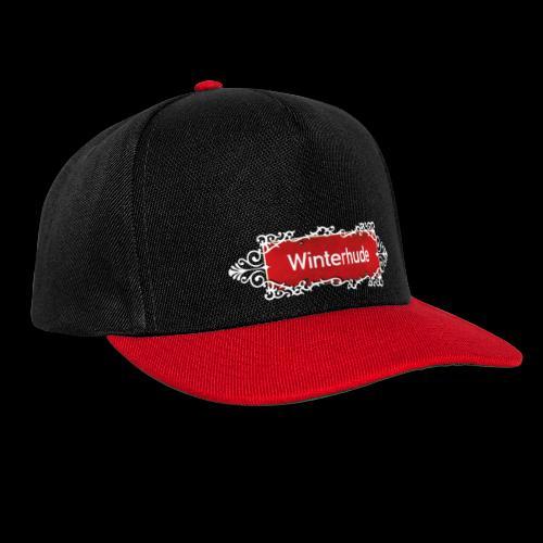 (Hamburg) -Winterhude Ortsschild mit Ornament, Kiez-Cap - Snapback Cap