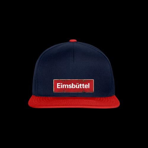 Hamburg: Eimsbüttel mit rotweissem Antik-Ortsschild - Snapback Cap