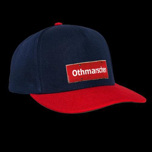 Mein Hamburg, mein Othmarschen, meine Kiez-Cap: Ortsschild rot antik - Snapback Cap