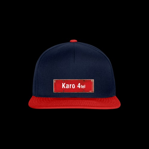 Hamburg: Karo 1/4 mit rotweissem Antik-Ortsschild - Snapback Cap