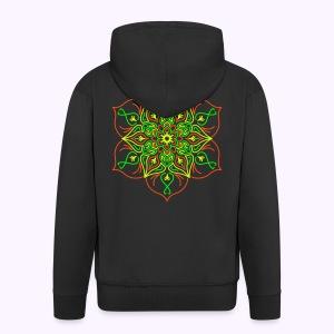 Fire Lotus Men's Hooded Jacket - Miesten premium vetoketjullinen huppari