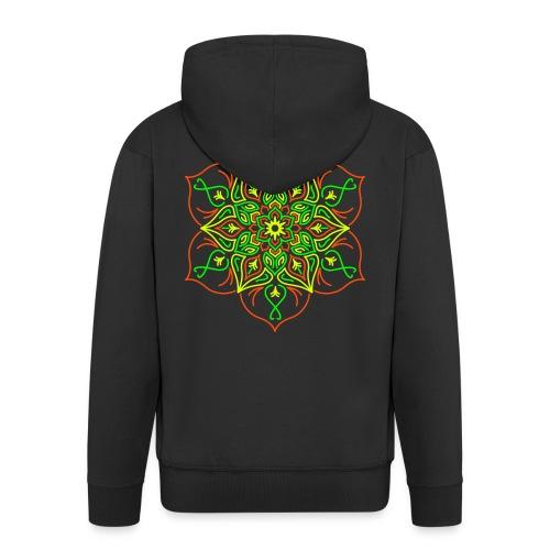 Fire Lotus Men's Hooded Jacket - Men's Premium Hooded Jacket