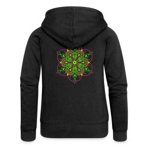 Fire Lotus Women's Hooded Jacket - Women's Premium Hooded Jacket