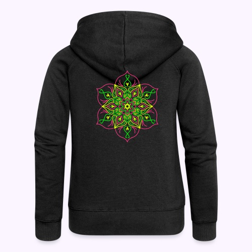 Fire Lotus Women's Hooded Jacket - Women's Premium Hooded Jacket