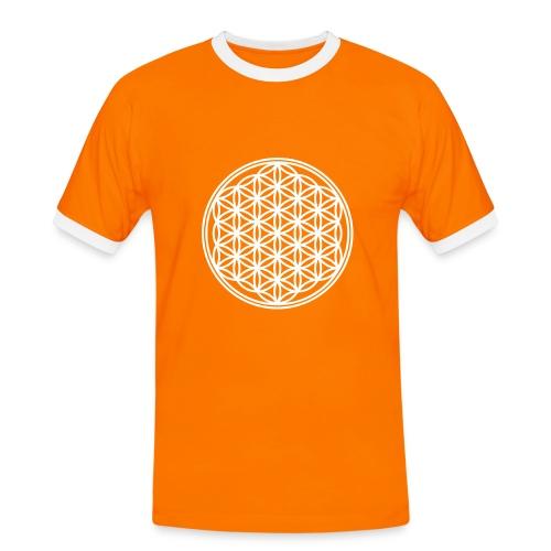 Floweroflife - Maglietta Contrast da uomo
