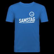 T-Shirts ~ Männer Slim Fit T-Shirt ~ SAMSTAG HALB 4