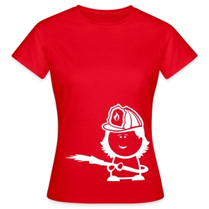 Retter-Nerd-Firefighter Girl - Frauen T-Shirt