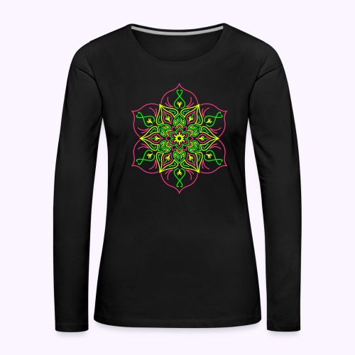 Fire Lotus Women's Long Sleeve Shirt - Premium langermet T-skjorte for kvinner