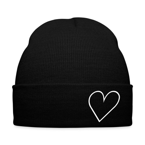 BLACK HEART BEANIE - Winter Hat