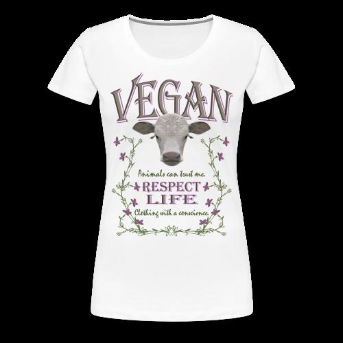 VEGAN - RESPECT LIFE - Frauen Premium T-Shirt