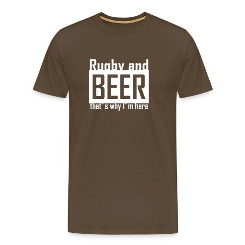 'Rugby and Beer' Premium T-Shirt (Mens) - Men's Premium T-Shirt
