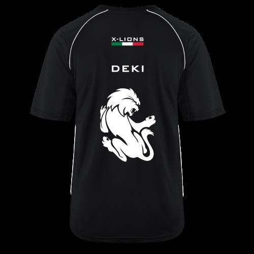 T-shirt sportiva, Deki black - Maglia da calcio uomo