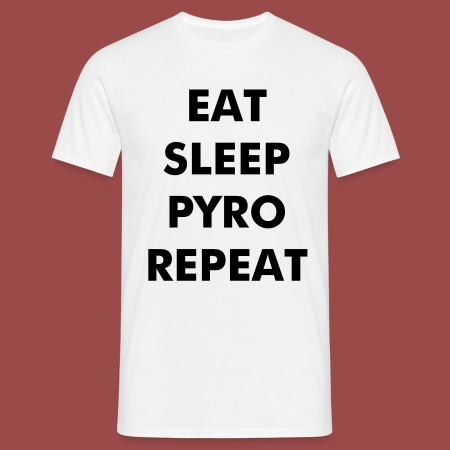 Eat, Sleep, Pyro, Repeat (White) - Männer T-Shirt