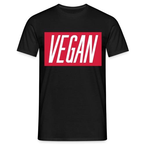 T shirt con scritta VEGAN in bianco. - Maglietta da uomo