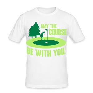 May the course be with you - golf T-Shirts - Men's Slim Fit T-Shirt