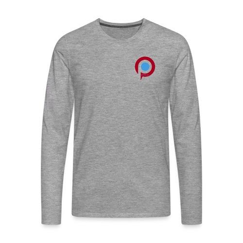 Pictab långärmad T-shirt herr med liten logga - Långärmad premium-T-shirt herr