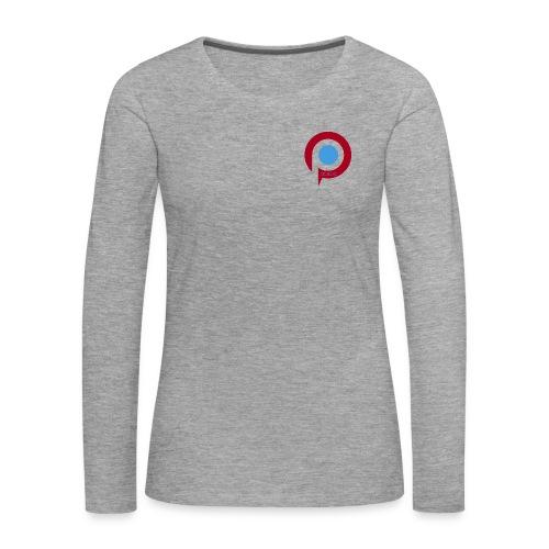 Pictab långärmad t-shirt dam med liten logga - Långärmad premium-T-shirt dam