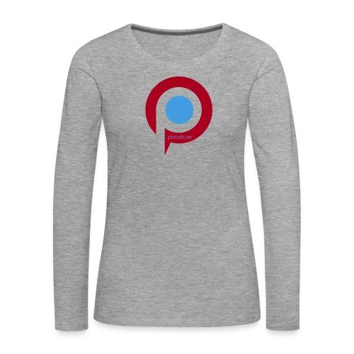 Pictab långärmad t-shirt dam med stor logga - Långärmad premium-T-shirt dam