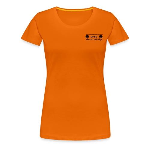 DPSG Kattwiga Frauen T-Shirt, Aufdruck schwarz (Vorne)  - Frauen Premium T-Shirt