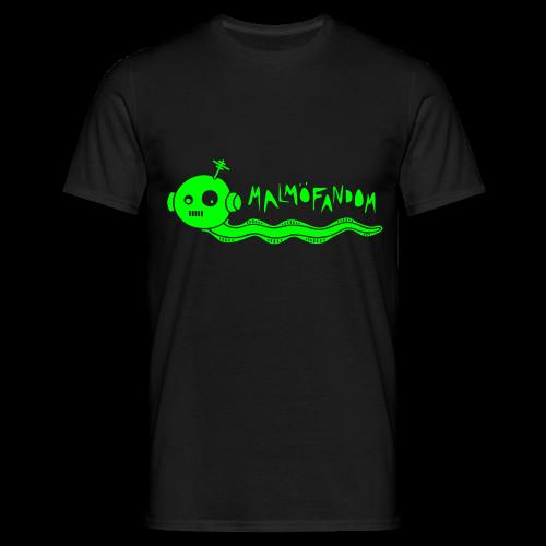 Malmöfandom neongrön flextryck - T-shirt herr