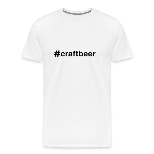 T-shirt med text #craftbeer - Premium-T-shirt herr