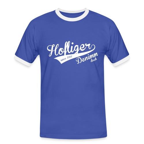 Hofliger-0 - Männer Kontrast-T-Shirt