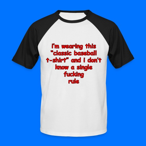 Classic baseball t-shirt - Men's Baseball T-Shirt