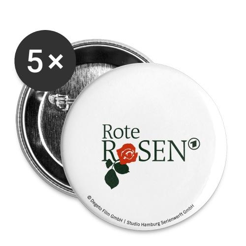Rote Rosen - Button 32mm Logo - Buttons mittel 32 mm