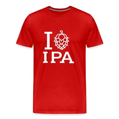 T-shirt med text I LOVE IPA - Premium-T-shirt herr