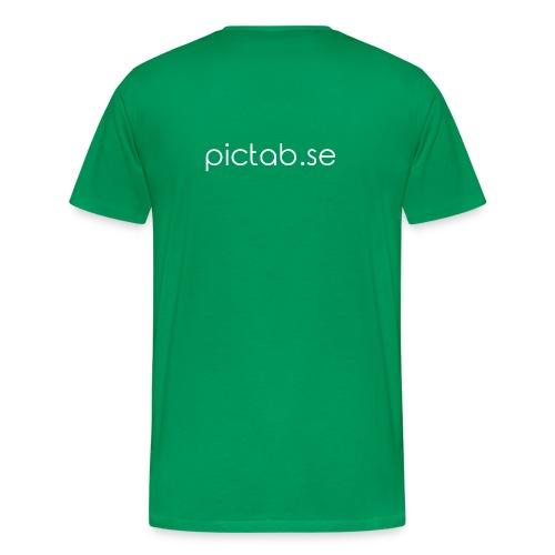 Pictab T-shirt herr liten logga - pictab.se - Premium-T-shirt herr