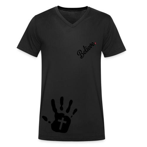believe - Men's Organic V-Neck T-Shirt by Stanley & Stella