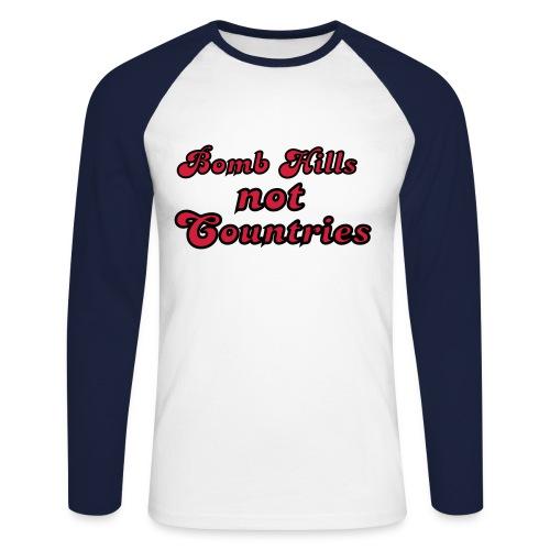 Bomb Hills not Countries - Männer Baseballshirt langarm