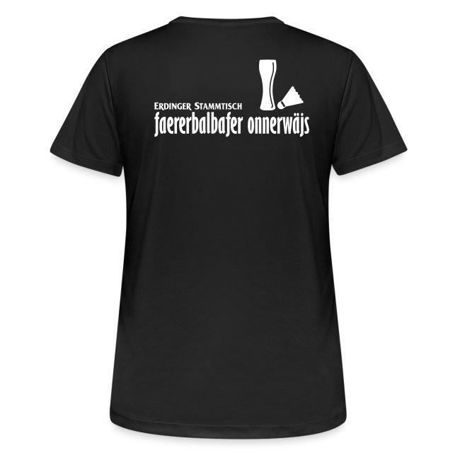 Frauen T-Shirt atmungsaktiv Stammtisch