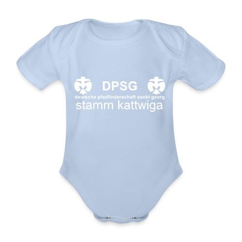 DPSG Kattwiga Baby Kurzarm-Body (Aufdruck Weiss) - Baby Bio-Kurzarm-Body
