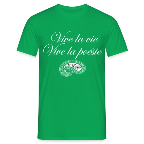 T-shirt homme vert Vive la poésie - T-shirt Homme