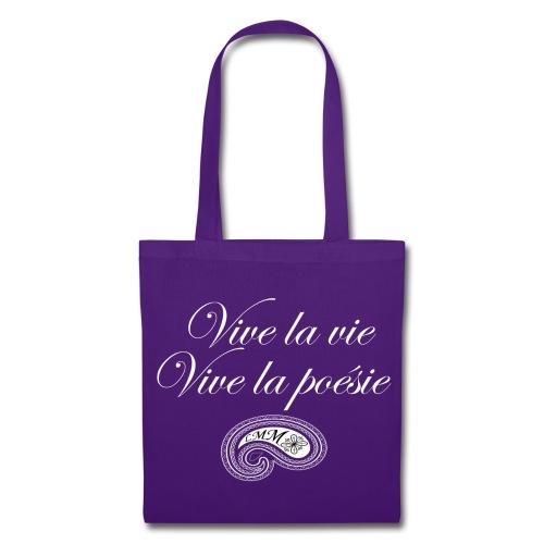 Sac en tissu violet Vive la poésie - Tote Bag