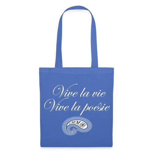 Sac en tissu bleu ciel Vive la poésie - Tote Bag