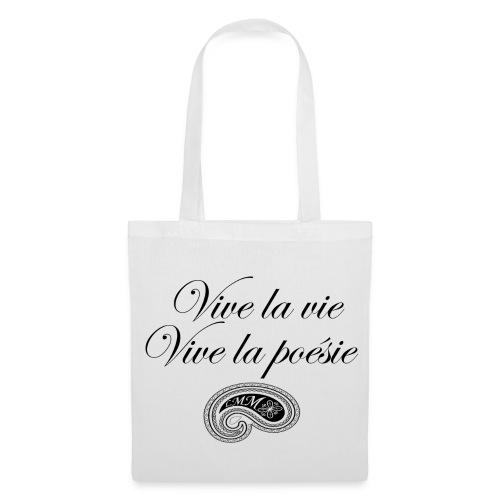 Sac en tissu blanc Vive la poésie - Tote Bag