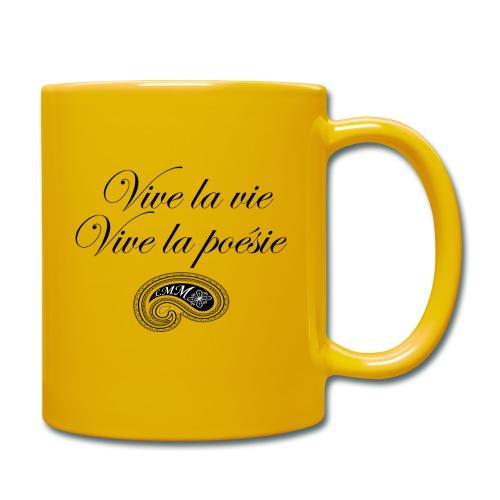 Mug jaune Vive la poésie - Mug uni