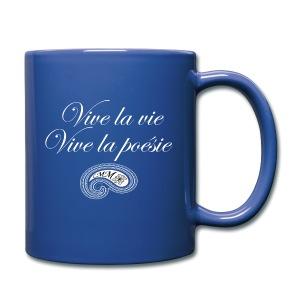 Mug bleu Vive la poésie - Tasse en couleur