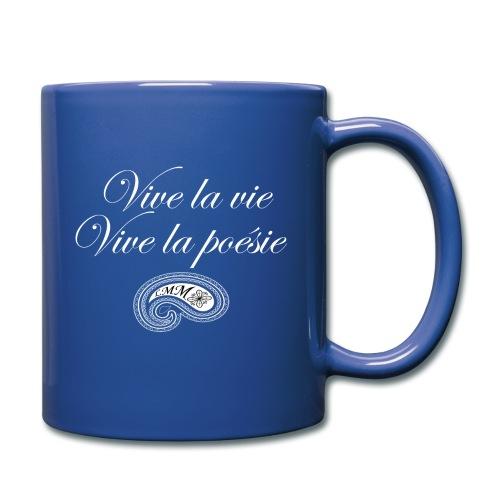 Mug bleu Vive la poésie - Mug uni