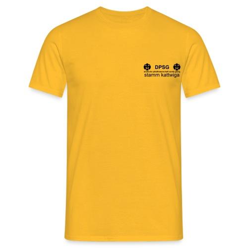 DPSG Kattwiga Männer T-Shirt Version 2 (Aufdruck Schwarz) - Männer T-Shirt